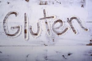 Gluten written in flour